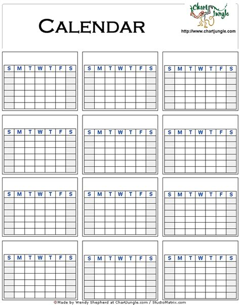 Galerry printable blank yearly planner