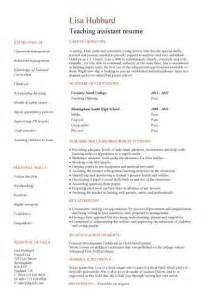 free teaching assistant cover letter sle letters cv