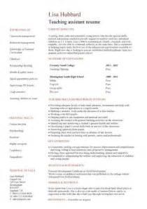 Teaching assistant CV sample, teacher CV example, school