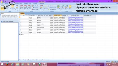 cara membuat query database access cara membuat tabel query dan form pada ms access 2007