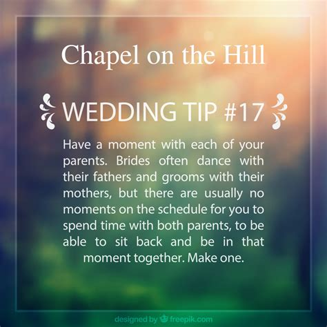 Wedding Tips by Wedding Tips Chapel On The Hill