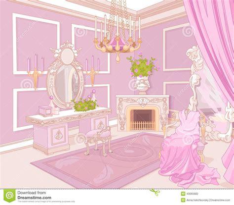 Princess Bedroom Drawing Princess Dressing Room Stock Vector Image Of