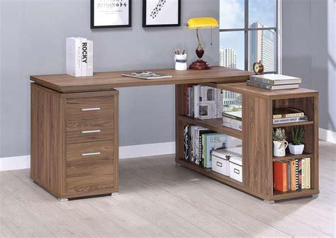 elm desk l coaster yvette office desk elm 801517 at homelement com