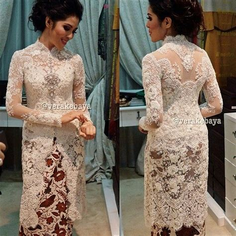 Txkdtvl Dress Putih Dress Lace Dress Brukat Dress Sabrina Dress 1000 images about kebaya lace dress on kebaya lace bridesmaids and tadashi shoji