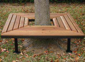 Wood Bench Around Tree Plans
