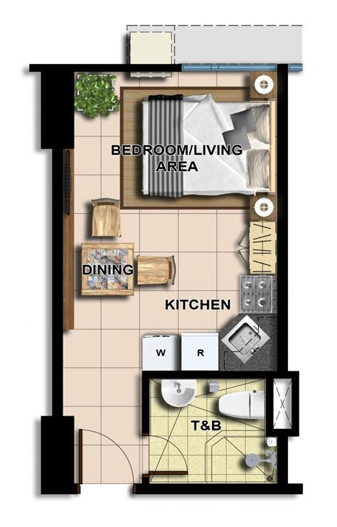 studio type floor plan avida towers centera mandaluyong pre selling condo