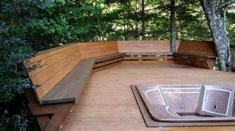 bench seating for decks best bench railing design deck railing mountain laurel