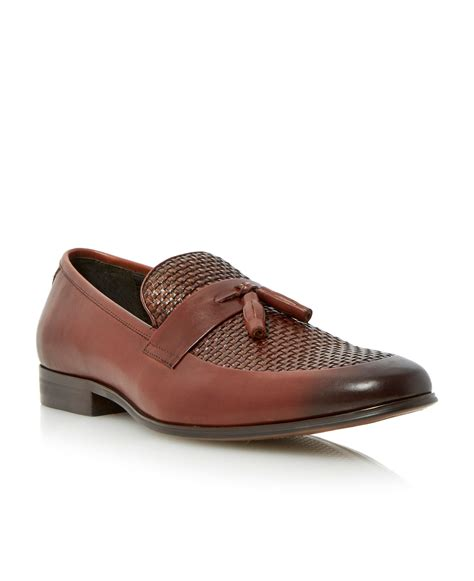 dune tassel loafers dune applause weave tassel loafers in brown for