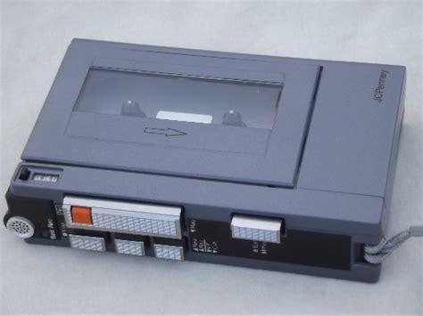 80s mini tape player, retro JCPenney portable cassette