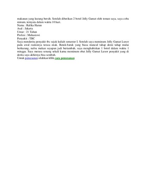 Obat Herbal Jelly Gamat Luxor obat herbal penyakit tbc jelly gamat luxor