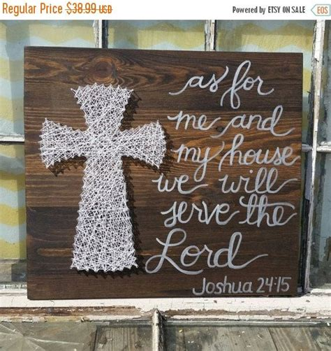 religious wall ideas as for me and my house we will serve the lord large