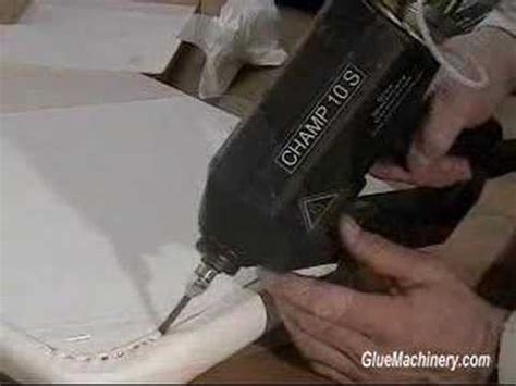 how to upholstery seat and upholstery seam gluing industrial hot melt glue
