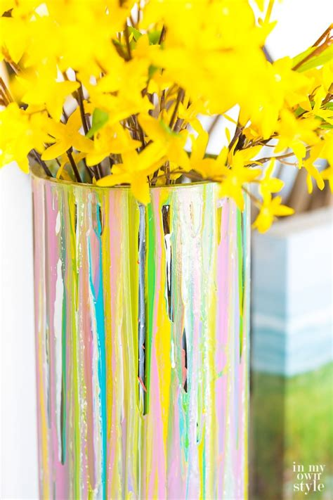 How To Paint A Glass Vase With Acrylic Paint Painted Glass Vase For Springtime Decorating In My Own Style