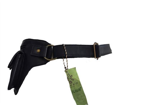 vegan leather pocket belt