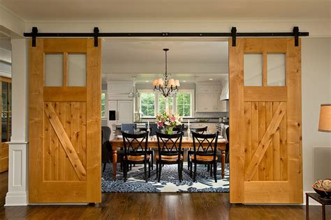 Garage Conversion Designs 25 diverse dining rooms with sliding barn doors