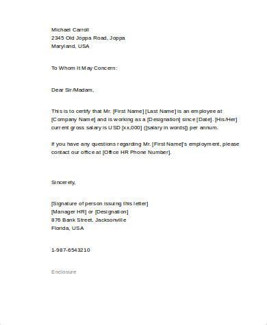 Reference Letter Proof Of Employment employment reference letter 8 free sle exle