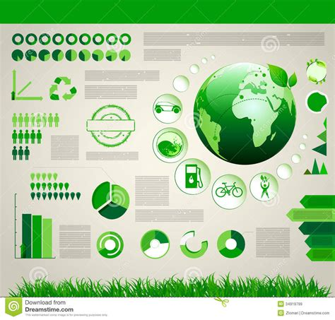 infographic outlines why green building is smart building infographic ecology design royalty free stock images