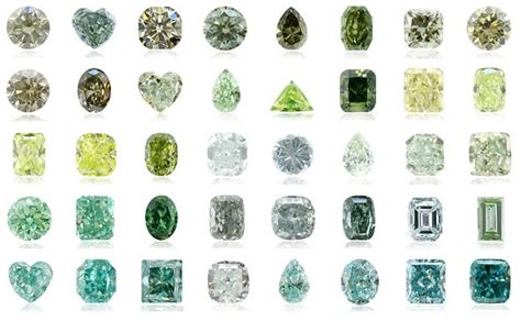 different color diamonds about green diamonds leibish
