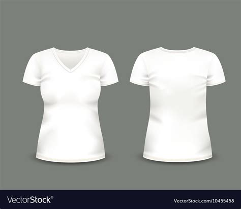 Kaos One Graphic 14 white v neck t shirt template royalty free vector image