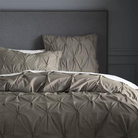 organic bedding sale organic cotton pintuck duvet cover shams soot west elm