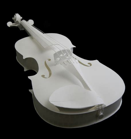 How To Make A Violin Out Of Paper - paper model series quot pepakura quot high quality card model