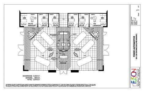 car showroom floor plan six car showroom preliminary fisker automotive