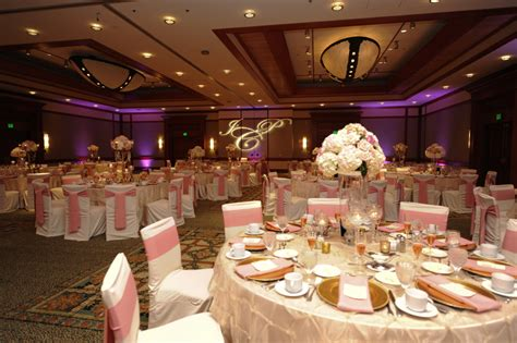 elegant pink gold florida wedding detail
