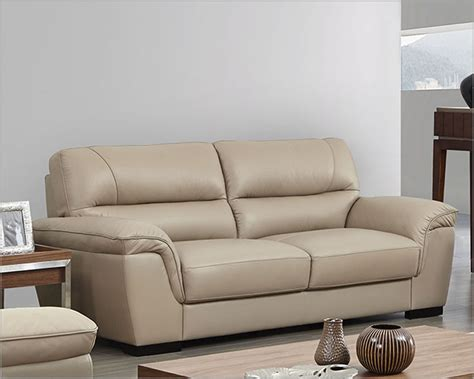 Modern Leather Sofa In Beige Color Esf8052s Leather Sofa Color