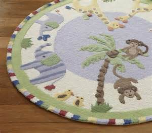 new pottery barn jungle friends area rug 5x5 rugs