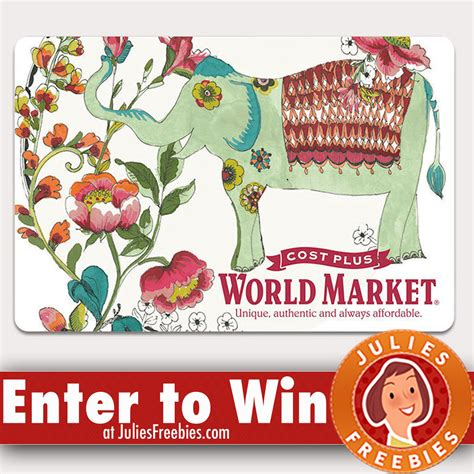 World Giveaways - 67 winners world market quikly giveaway julie s freebies