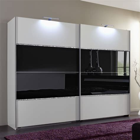 Used Bedroom Sets For Sale sicily sliding wardrobe alpine white and black glass 754860