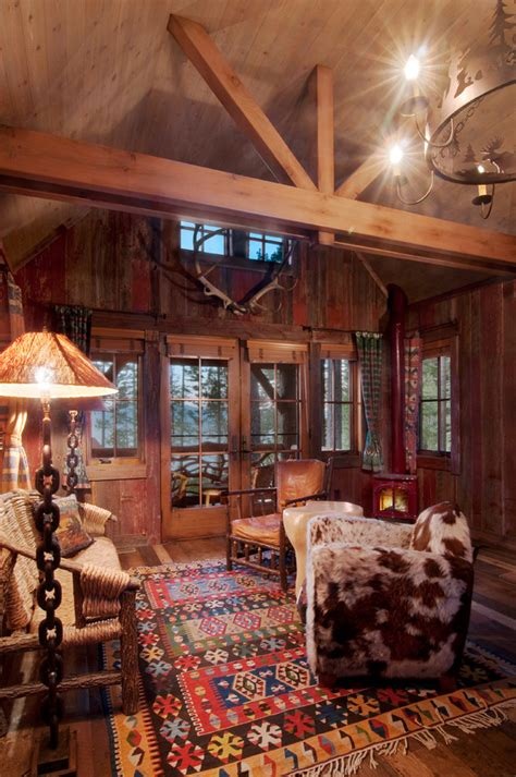 cabin decor catalog family room rustic with wood ceiling