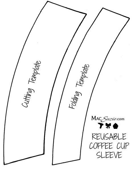Mini Sleeve Card Template by Diy Reusable Coffee Cup Sleeve Free Printable Template