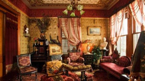 Wallpaper Design For Home Interiors by Archint Victorian Period Interior Design Furniture Design