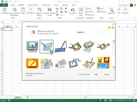 clipart office 2013 how to insert clipart images in excel 2013 dummies
