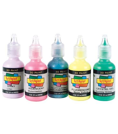 in the fabric paint scribbles 3d fabric paint 1oz shiny jo