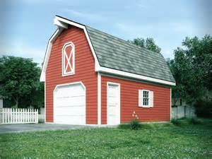 Gambrel Roof Garage Plans by One Car Garage With Loft Gambrel Roof 002d 6043 Garage