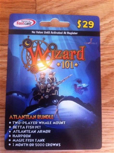 Wizard101 Gift Cards - wizard 101 atlantean bundle prepaid game card 7993660693305 59 80