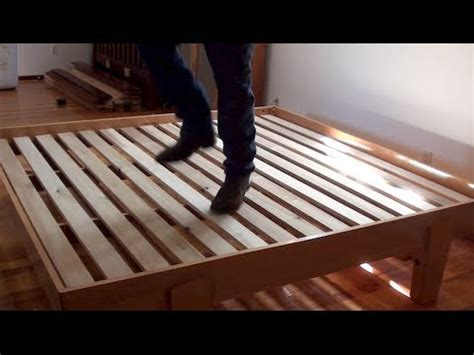 how to make a platform bed 02 how to build a bed platform bed assembly youtube