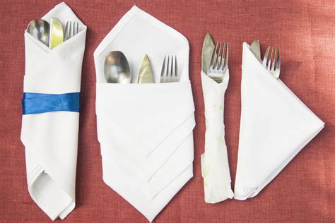 Ways To Fold Paper Napkins With Silverware - how to fold cutlery into a napkin synonym