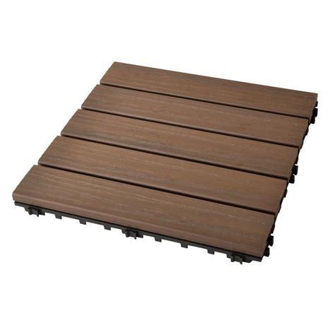 piastrelle legno piastrella in plastica da esterno ad effetto legno noce
