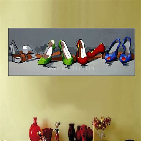 high heel shoe paintings new painting handmade picture modern landscape