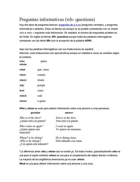 preguntas cerradas traduccion en ingles preguntas informativas by richar rincon issuu