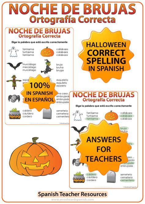 spanish halloween worksheets  activities pack woodward spanish