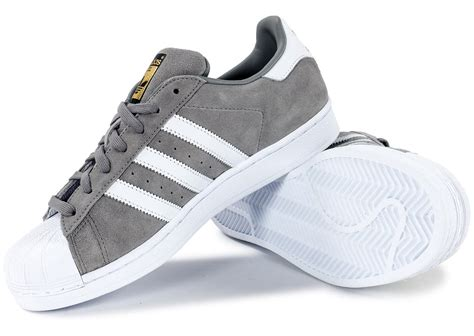 Adidas Supertar Classic B W adidas superstar suede grise chaussures homme chausport