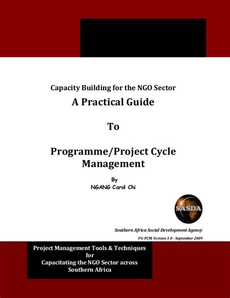 a z of capacity management practical guide for implementing enterprise it monitoring capacity planning books practical guide to programme project cycle management