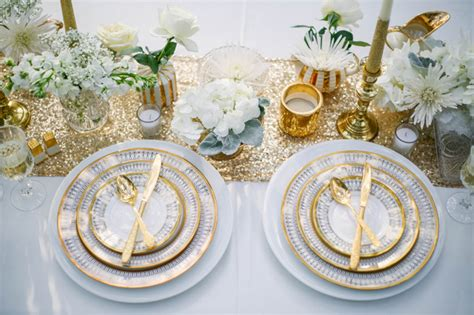 white and gold table settings gold and white winter styled shoot at manatee river garden