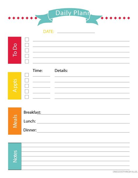 daily planner free template free printable daily planner health symptoms and cure