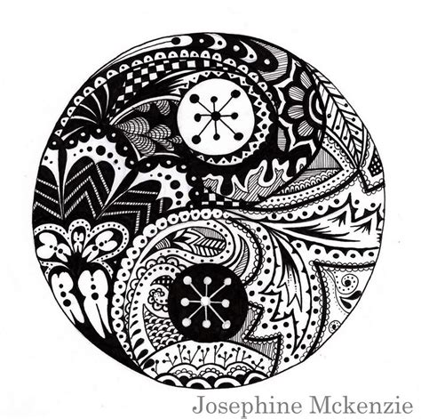 printable coloring pages yin yang ying and yang zentangle by amigoamiga on deviantart