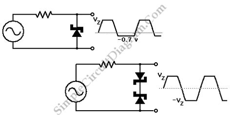 zener diodes back to back zener diode signal limiter simple circuit diagram